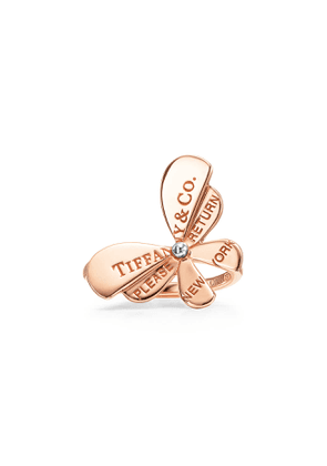 Return to Tiffany™ Love Bugs butterfly ring in rose gold and sterling silver - Size 5