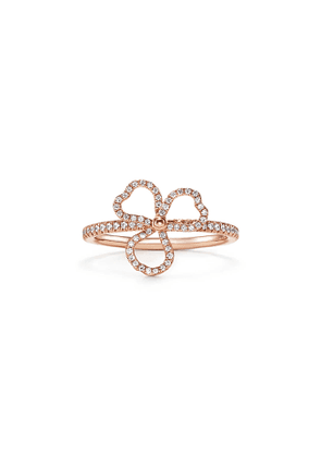 Tiffany Paper Flowers® diamond open flower ring in 18k rose gold - Size 5