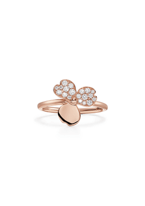 Tiffany Paper Flowers® diamond flower ring in 18k rose gold - Size 7