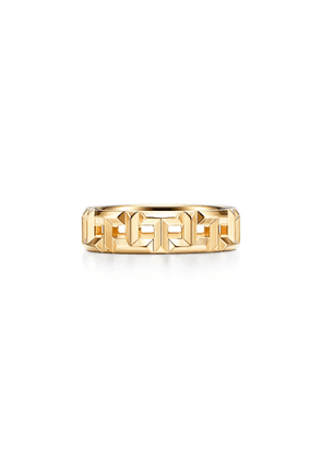 Tiffany T True wide ring in 18k gold, 5.5 mm wide - Size 6