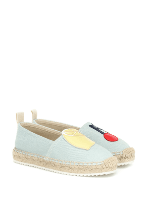 Salad denim espadrilles
