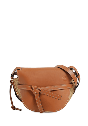 Small Gate Raffia & Leather Shoulder Bag