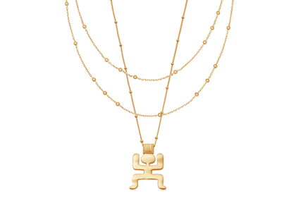 Gold Double the Fun Necklace Set