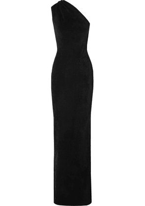 Brandon Maxwell - One-shoulder Chenille Gown - Black