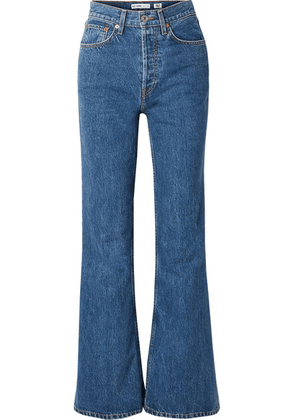 RE/DONE - High-rise Wide-leg Jeans - Mid denim