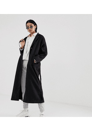 Weekday relaxed trench coat in black