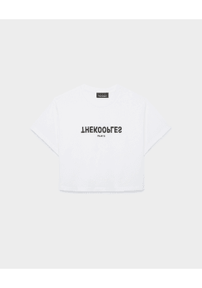 The Kooples - white designer t-shirt with the kooples logo - white