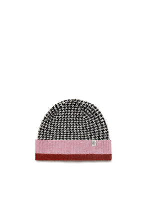 Mulberry Beanie Hat in Off White Lambswool