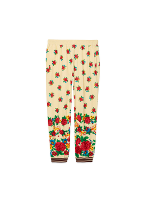 Loose printed chenille track bottoms