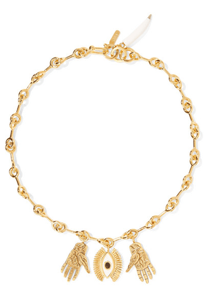 Chloé - Sloan Gold-tone, Enamel And Resin Necklace - one size