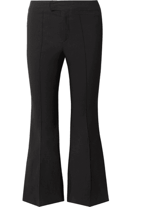 Isabel Marant - Nyree Cropped Cotton-blend Flared Pants - Black