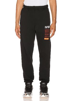 Heron Preston Nasa Sweatpants in Black - Black. Size S (also in L,M,XL).