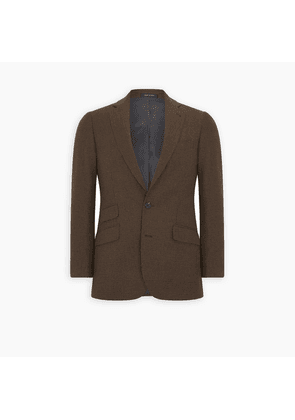Brown Check Cashmere Jacket