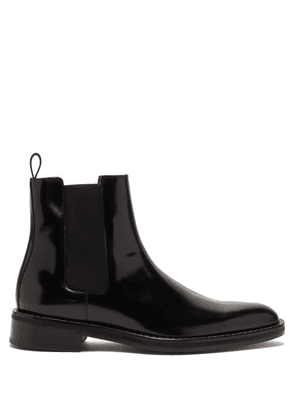 Ami - Welt Stitched Leather Chelsea Boots - Mens - Black