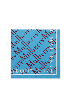 Mulberry Logo with Quotes Square in Terracotta Silk Twill
