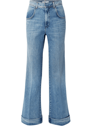 RE/DONE - High-rise Flared Jeans - Mid denim