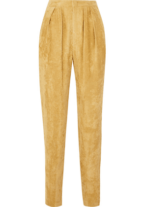 Isabel Marant - Fany Pleated Corduroy Tapered Pants - Mustard