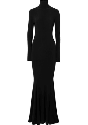 Norma Kamali - Stretch-jersey Turtleneck Gown - Black
