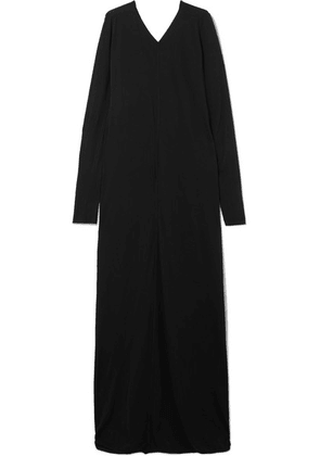 Rick Owens - Draped Cotton-jersey Maxi Dress - Black