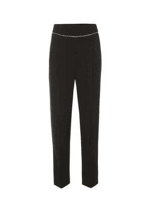 High-rise embellished straight pants