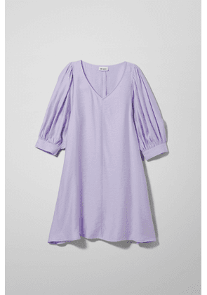 Hannah Puff Dress - Purple