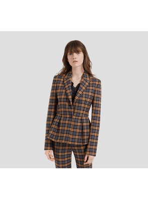Mulberry Faith Jacket in Autumn Gold Woven Wool Check