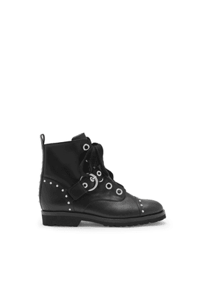 Mulberry Rider Strap Bootie in Black Smooth Calf