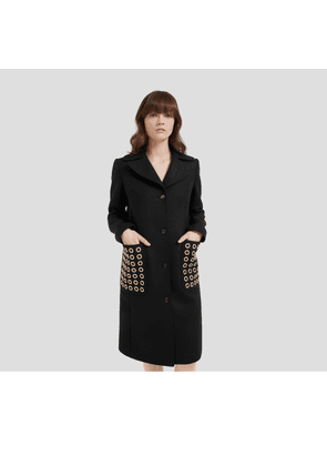 Mulberry Claire Coat in Black Wool Felt