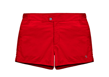 Red Fulco Polyester Swimshorts