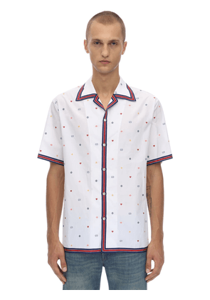 Embroidered Cotton Bowling Shirt