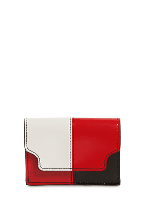Color Block Saffiano Leather Wallet