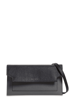 Trunk Grained Leather Wallet Bag