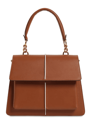Medium Attaché Leather Top Handle Bag