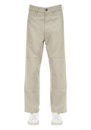 Cotton Blend Canvas Pants