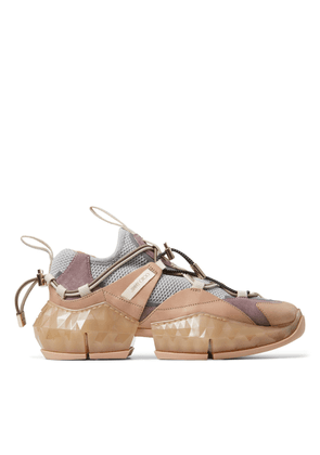 DIAMOND TRAIL/F Porcelain Stretch Mesh and Ballet Pink Leather Mix trainers