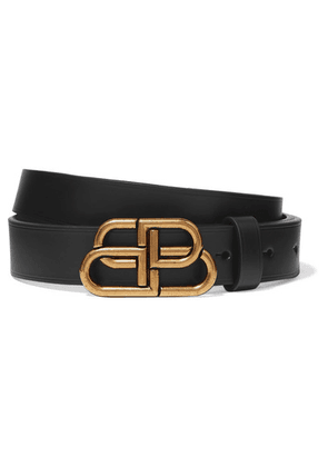 Balenciaga - Bb Leather Belt - Black
