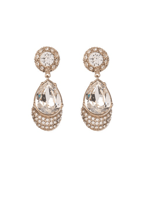 Givenchy - Victorian Style Magnetic Earrings - Womens - Crystal