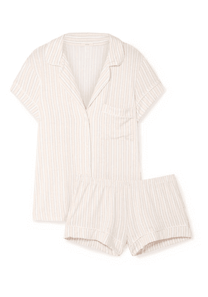 Eberjey - Sleepy Striped Stretch-modal Jersey Pajama Set - Ivory