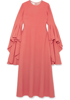 Giambattista Valli - Fluted Crepe Midi Dress - Coral