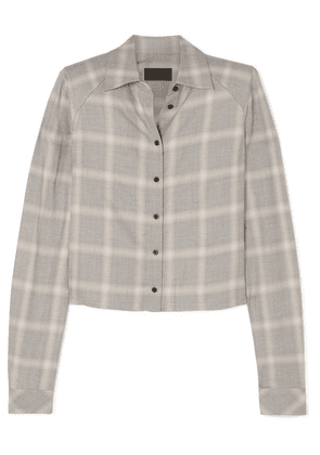 RtA - Maxine Plaid Woven Shirt - Light gray