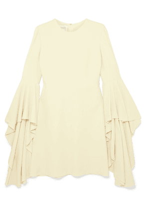 Giambattista Valli - Fluted Crepe Mini Dress - Cream