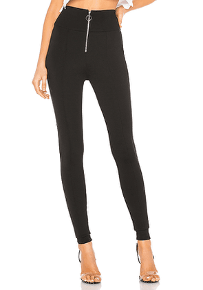 by the way. Lacey Front Zip Ponte Legging in Black. Size XXS.