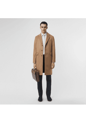 Burberry Wool Cashmere Tailored Coat, Size: 46, Brown