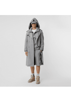 Burberry Cotton Jersey Trench Coat, Size: 48, Grey