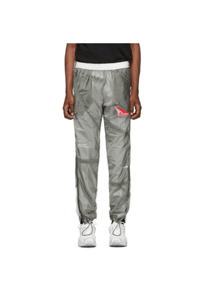 Heron Preston SSENSE Exclusive Grey and White JUMP Lounge Pants