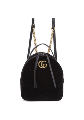 a9aa76dc Gucci Black Mini GG Marmont 2.0 Backpack | MILANSTYLE.COM