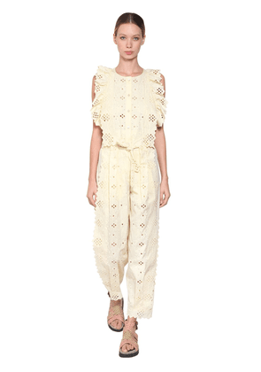 Cotton Blend Lace Jumpsuit