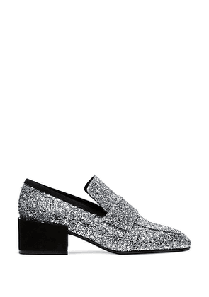 Stuart Weitzman - The Sawyer Loafer In Moonlight Silver - Size 35
