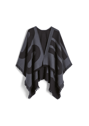 JUUL Dusk Knitted Brushed Wool Poncho