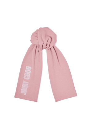 FABIA Mauve Blended Wool Knit Scarf